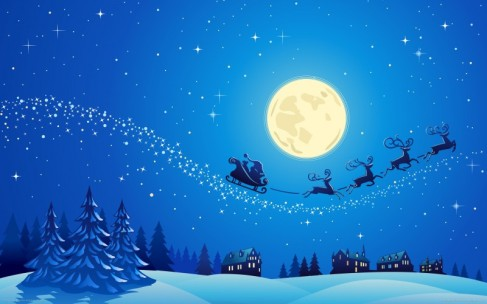 Image - http://hdwallpapercorner.com/4078/beautiful-christmas-night