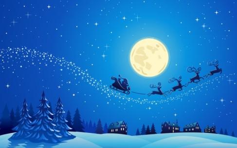Image - http://hdwallpapercorner.com/4078/beautiful-christmas-night
